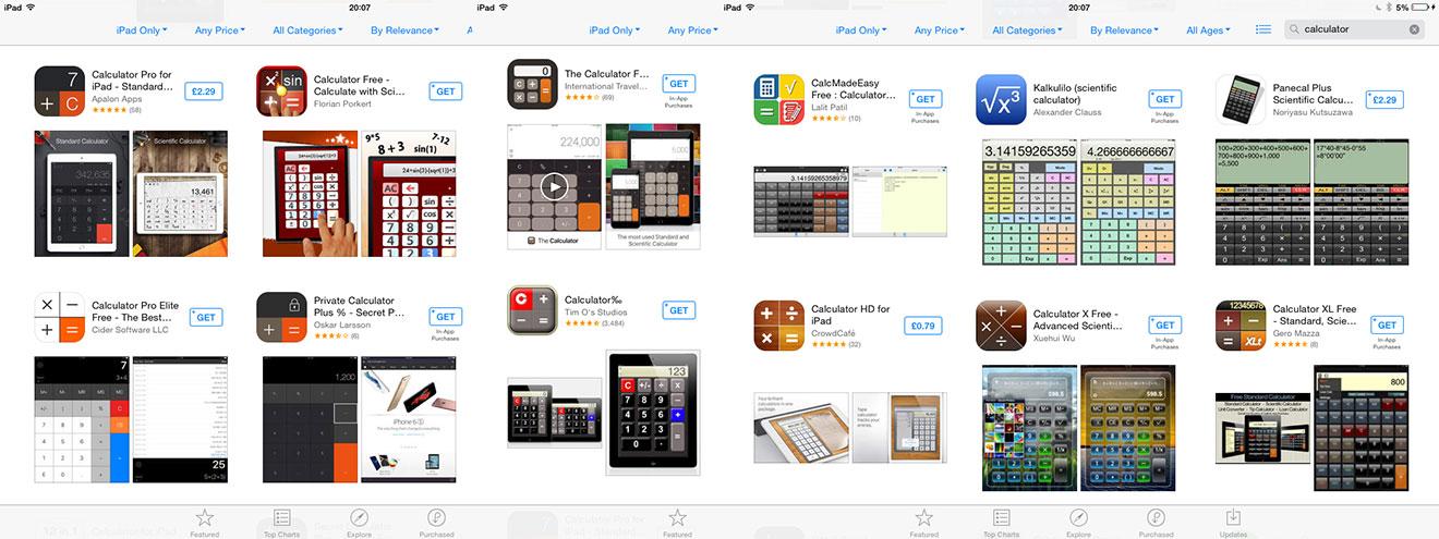 Apple store calculation options: a plenty