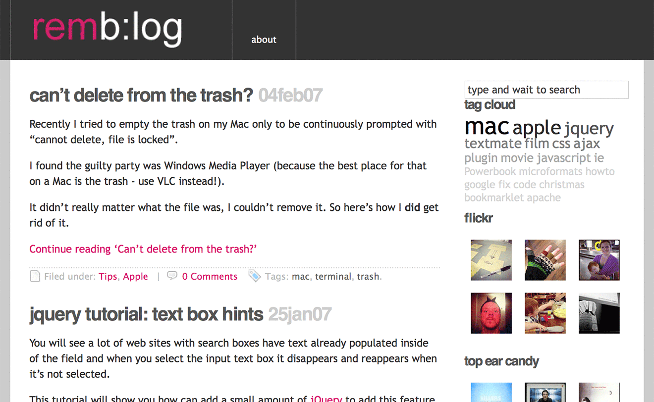 My blog in 2007