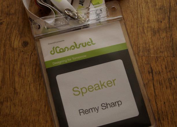 Remy's speaker badge