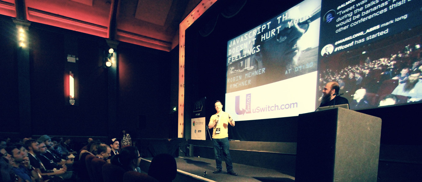 Photo of confwall at ffconf 2015