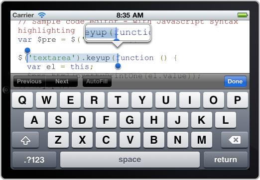 Rich text input on iOS