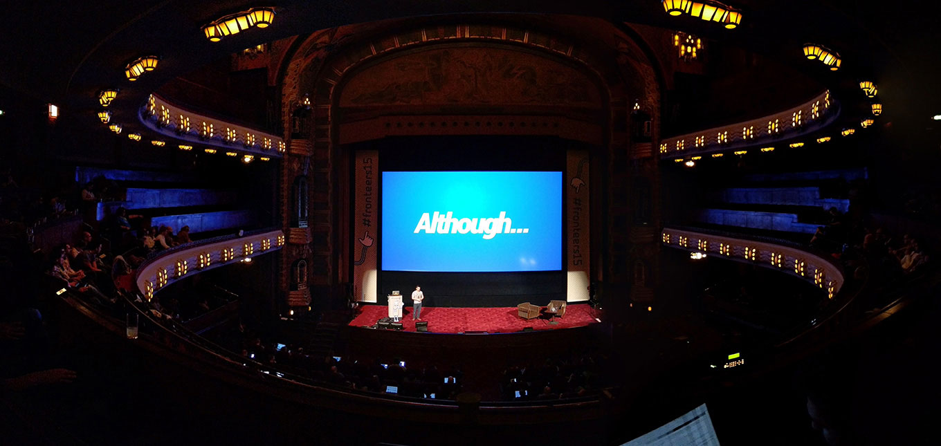 Photo of Remy Sharp speaking at Fronteers