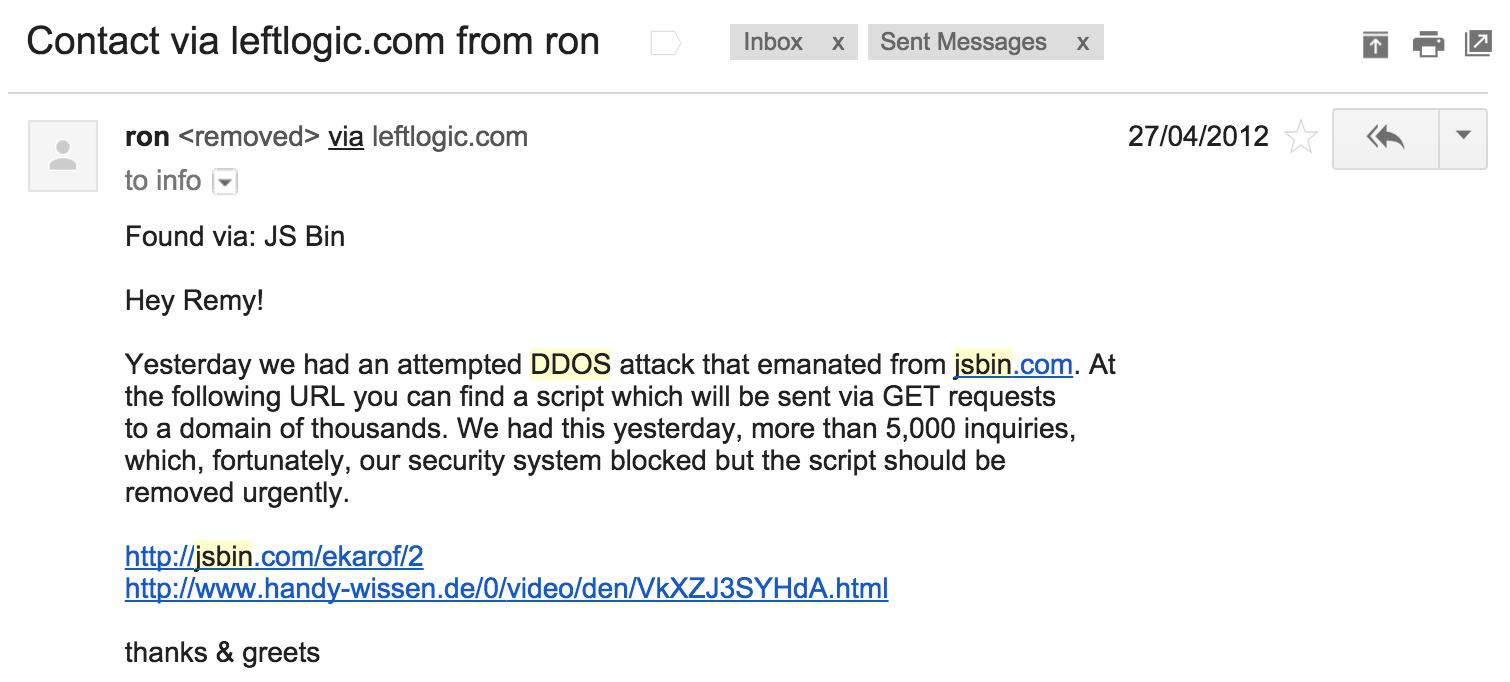 First DDoS