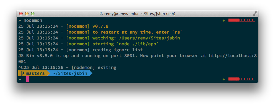 Remy Sharp's terminal settings